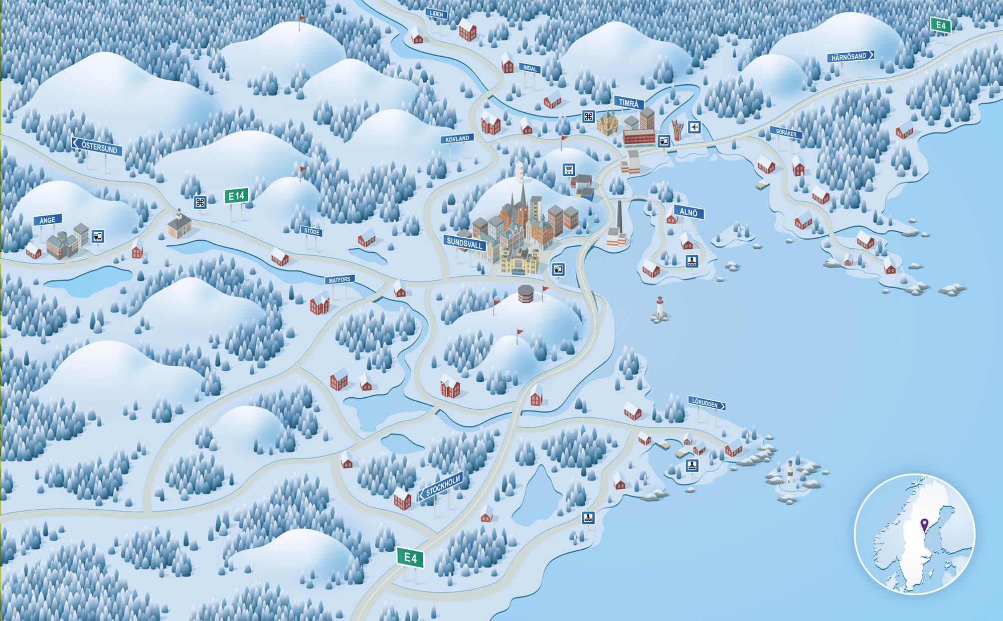 Illustration som togs fram för DSTN Sundsvall